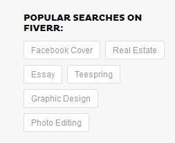 Popular searches on Fiverr
